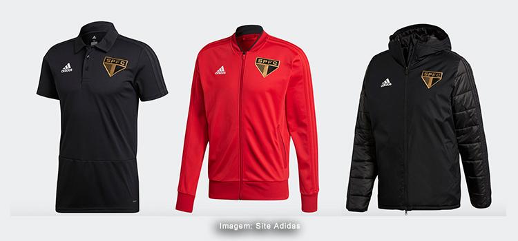 16768d8bad7 O início de trabalho e os primeiros produtos da Adidas para o São Paulo