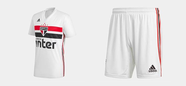 2aab384978c Nova camisa e calção Adidas SPFC 2019